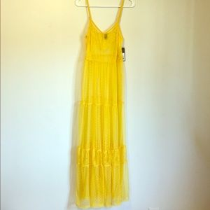 Wild Fable Yellow Lace Slip Dress